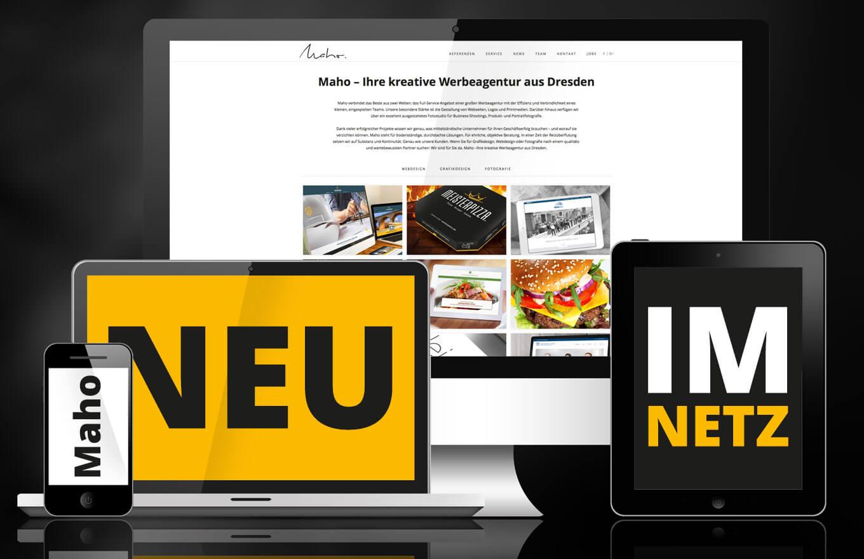 Maho Relaunch - News Maho Werbeagentur Dresden