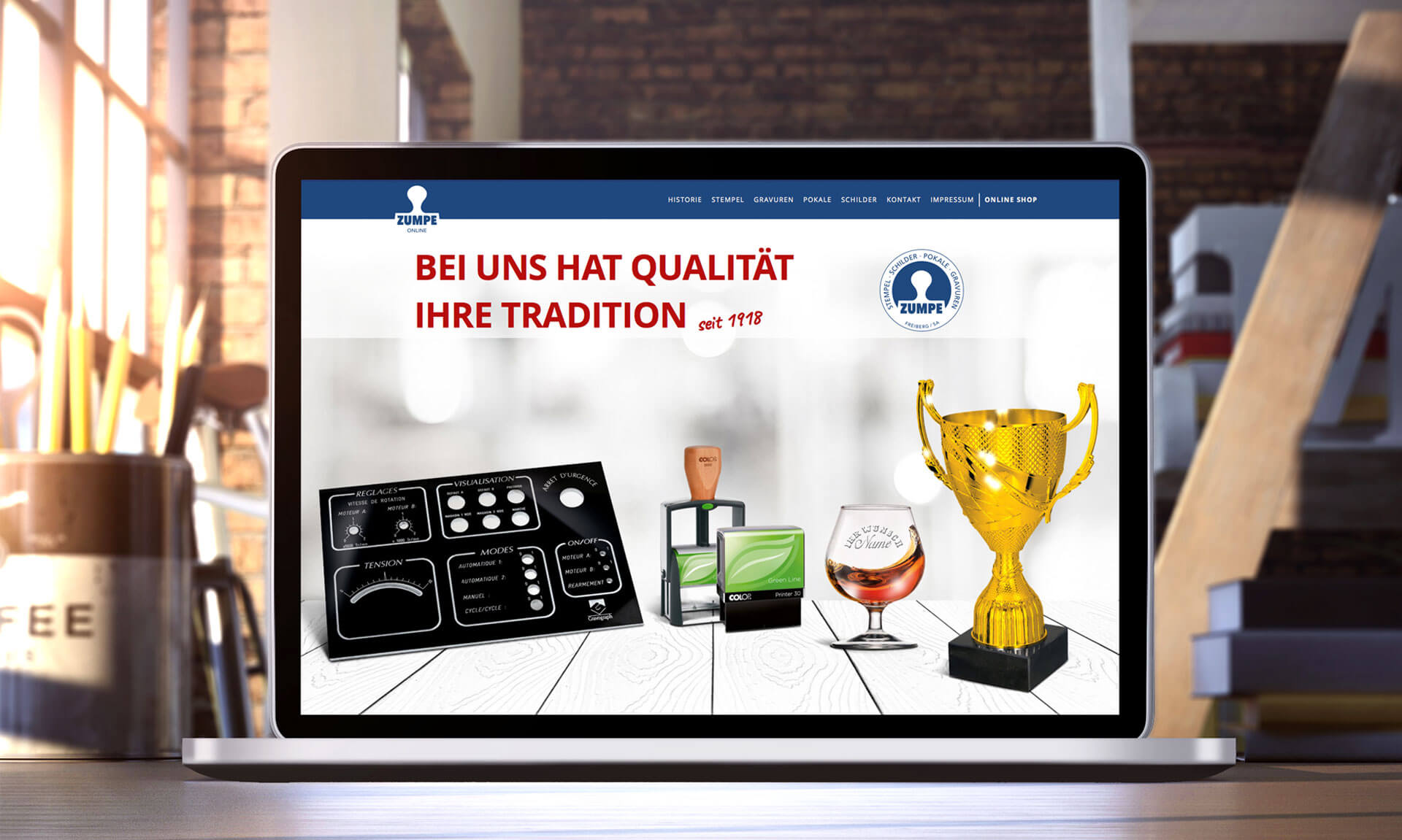 Zumpe Freiberg Webdesign - Referenz Maho Werbeagentur Dresden