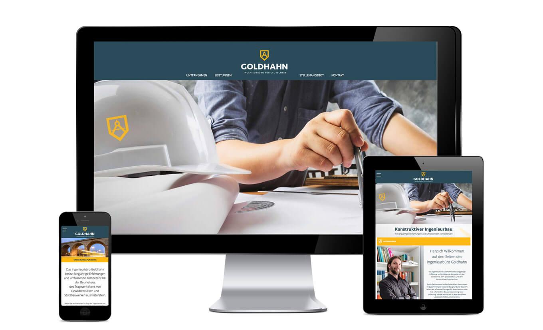 Ingenieurbüro Goldhahn Website - Referenz Maho Werbeagentur Dresden