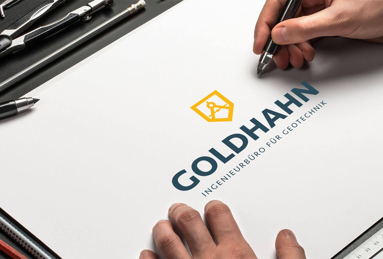 Ingenieurbüro Goldhahn Logo - Referenz Maho Werbeagentur Dresden