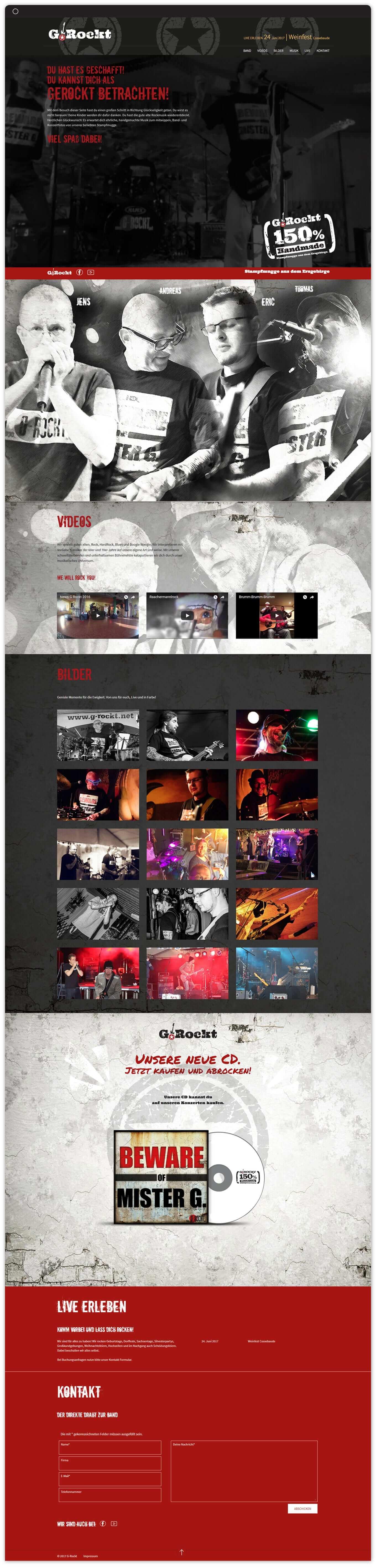 G.Rockt Website - Referenz Maho Werbeagentur Dresden