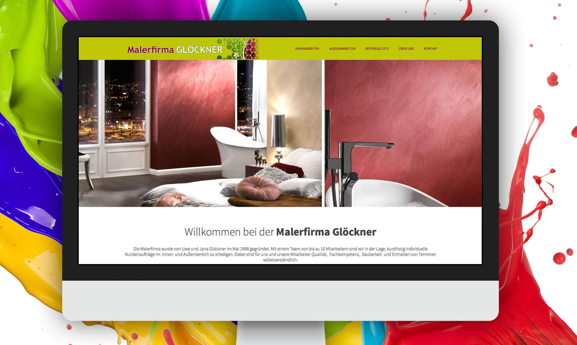 Malerfirma Uwe Glöckner - Referenz Maho Werbeagentur Dresden