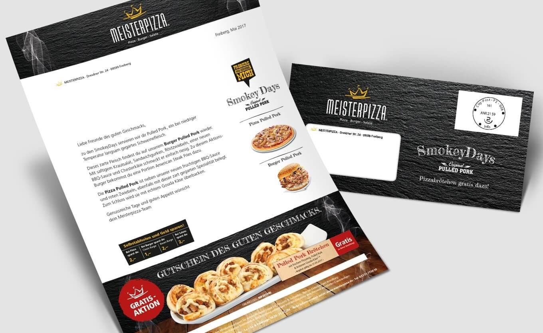 Meisterpizza Anschreiben - Referenz Maho Werbeagentur Dresden
