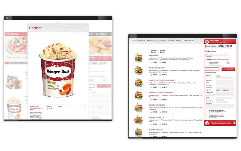 Meisterpizza Webdesign - Referenz Maho Werbeagentur Dresden