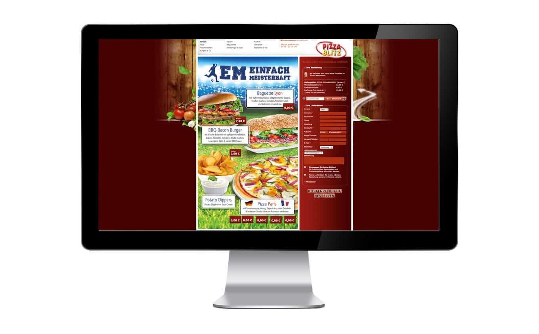 Pizza Blitz Webdesign - Referenz Maho Werbeagentur Dresden